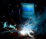Welders in action Royalty Free Stock Photo
