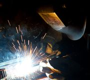 Welders in action Stock Photography