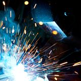 Welders in action Stock Image