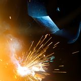 Welders in action Royalty Free Stock Photos