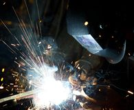 Welders in action Stock Photos