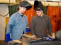 Welders Discussing the Job Royalty Free Stock Photo