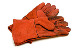 Welders Gloves Stock Photo