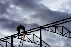 Welders silhouette. Royalty Free Stock Photos