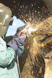 Welders spark Royalty Free Stock Photos