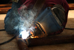 Welders Touch Royalty Free Stock Photos