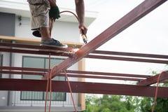 Welders welding metal, Welding Royalty Free Stock Photos