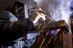 Welders at work. Is very tiring and hot Royalty Free Stock Images