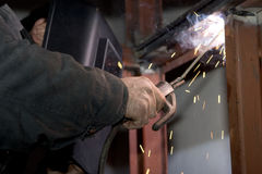 Welders at work. Is very tiring and hot Royalty Free Stock Photo