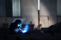 Welders worker. In the factory Stock Image