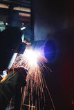 Welders are working in the factory Stock Image