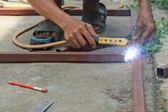 Welders working. On floor in Thailand Stock Images