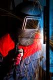 welderworking Royaltyfri Fotografi