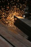 Welding. The color of metal, business and labor, shipbuilding Royalty Free Stock Images