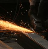 Welding. The color of metal, business and labor, shipbuilding Royalty Free Stock Photos