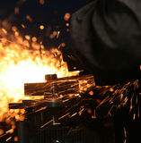 Welding. The color of metal, business and labor, shipbuilding Royalty Free Stock Image