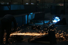 Welding. The color of metal, business and labor, shipbuilding Stock Photos