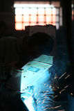 Welding. The color of metal, business and labor, shipbuilding Royalty Free Stock Photo