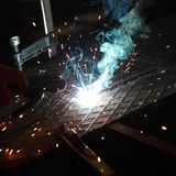 Welding. Close up photo of welding Royalty Free Stock Image