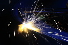 Welding. Work welding in the workshop Royalty Free Stock Images