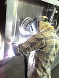 Welding  Aluminum. Copper clad aluminum  weste oil Stock Photography