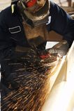 Welding and arc. A picture of an arc welder at work Stock Image