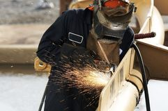 Welding arc. A picture of an arc welder at work Stock Photography