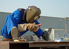 Welding Attire Stock Photo