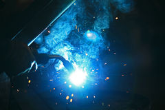 Welding background Stock Photos