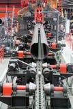 Welding of big-diameter pipes stock photos