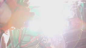 Welding and bright sparks stock footage