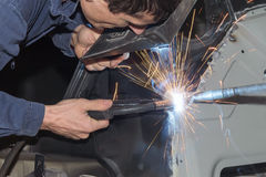 Welding car Royalty Free Stock Photography