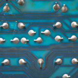 Welding chip blue motherboard electrical equipment Stock Images