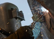 Welding close Royalty Free Stock Photography