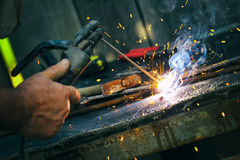 Welding close up Royalty Free Stock Photos