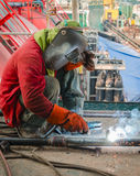 Welding at construction site Stock Photography