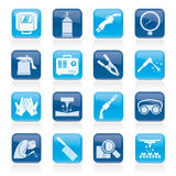 Welding and construction tools icons Royalty Free Stock Image