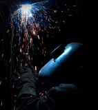Welding by dark Royalty Free Stock Photos