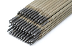Welding electrodes closeup Stock Photos