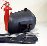 Welding equipment & Fire Extinguisher Royalty Free Stock Image