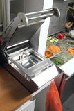 Welding equipment machine in a Asian restaurant citchen Stock Photos