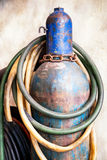 Welding gas container Stock Photo