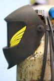 Welding helmet Stock Photo
