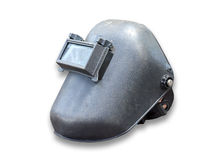 Welding helmet with open shield isolated on white Royalty Free Stock Images