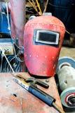 Welding Helmet set Royalty Free Stock Images