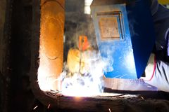 Welding at high temperature Stock Images