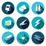 Welding icon set. Welding icon collection on a colored background Stock Photos