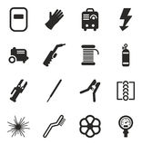 Welding Icons. This image is a  illustration and can be scaled to any size without loss of resolution Stock Image