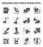 Welding icons Royalty Free Stock Photos