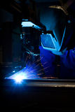 Welding machine operator Stock Photo
